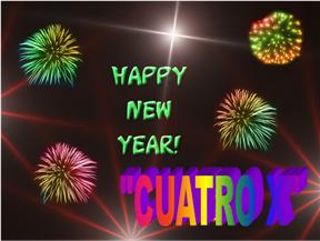 """A todos los que visitan """"CUATRO X"""" les deseamos un feliz 2009"""